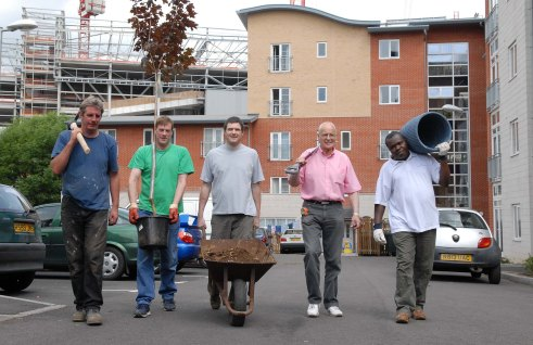 Off to plant trees...LtoR Peter Wadey, Phil Brown of BCHS, Carl Parker, Tony Ludlow and Remi Ehue.